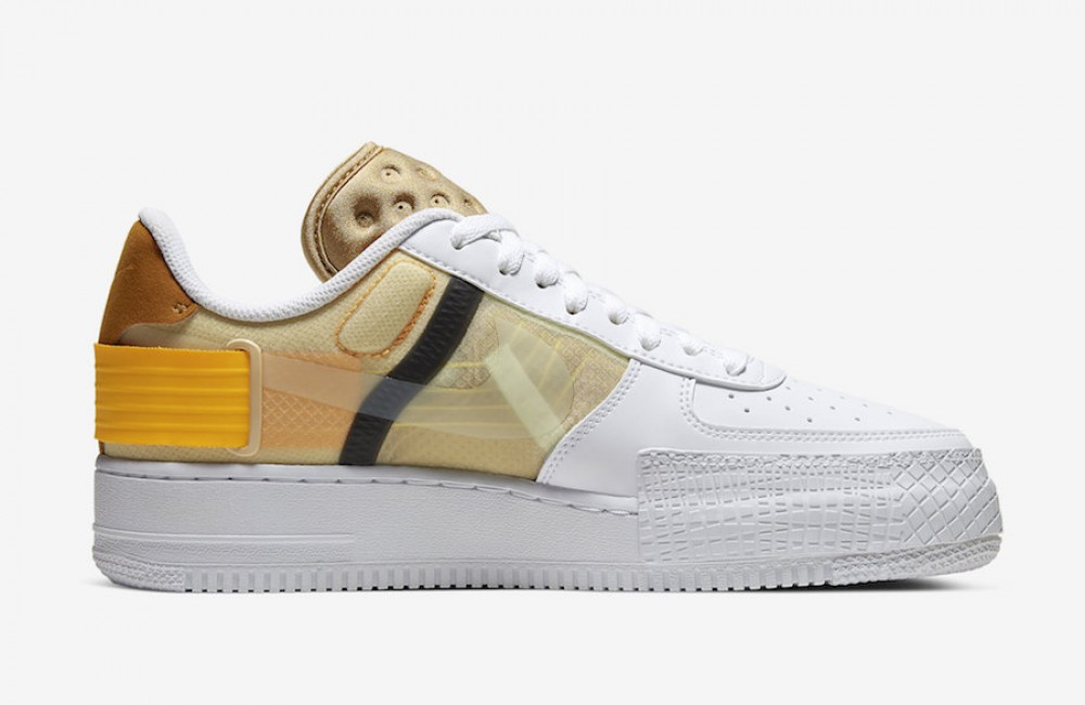 nike air force 1 blancas y doradas