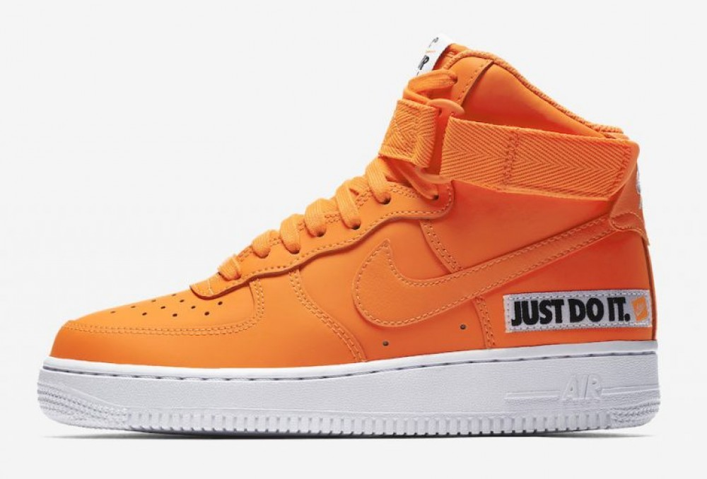 Nike Mujer Air Force 1 High LX Leather (NaranjasBlancas