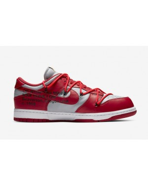 Off-White x Nike Dunk Low Rojas/Rojas-Grises CT0856-600