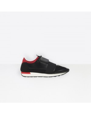 Balenciaga Hombre Race Runners Multimaterial Contrasted Runners Negras 516447W0YXS1066
