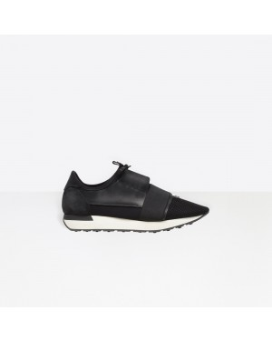 Balenciaga Hombre Race Runners Multimaterial Contrasted Runners Negras 483492W0YX61000