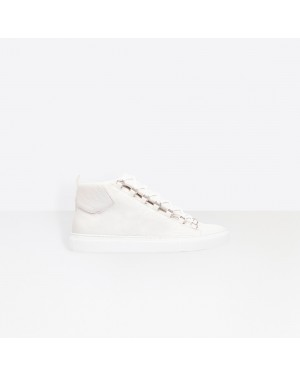 Balenciaga Hombre High Sneakers Natural shine Lambskin trainers Blancas 483497WAY409008