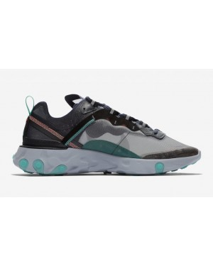 Nike React Element 87 Negras Verdes Bright Mango AQ1090-005