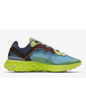 Undercover x Nike React Element 87 Azules Amarillas | BQ2718-400
