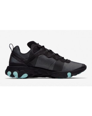 Nike React Element 55 Negras Verdes - BQ6166-004