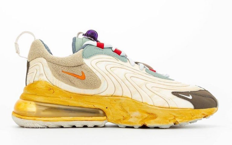 Travis Scott x Nike Air Max 270 React Light Cream/Dark Hazel-Verdes-Starfish CT2864-200