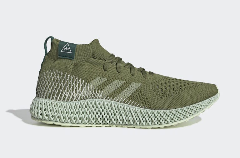 Pharrell Williams x adidas 4D Oliva/Blancas-Verdes FV6334