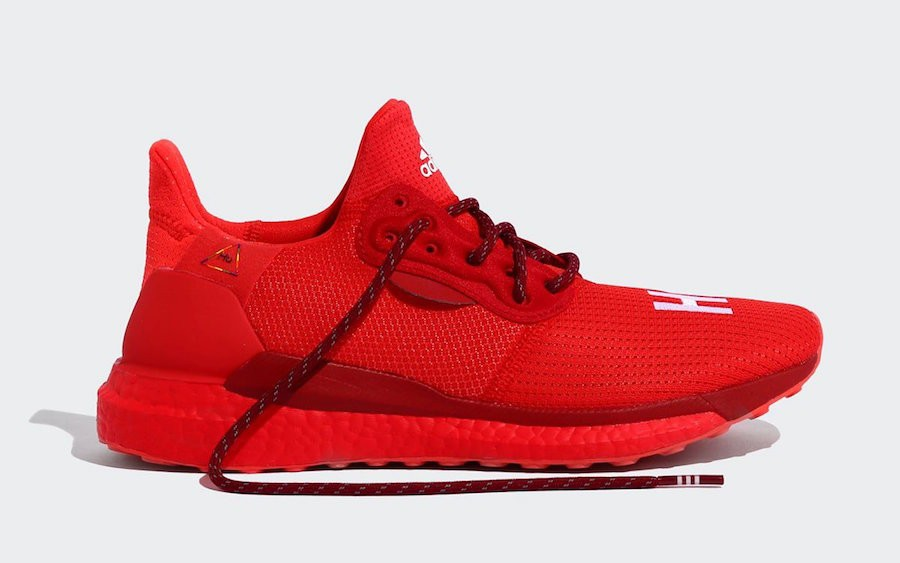 Pharrell Williams adidas Solar Hu Glide Rojas EF2381