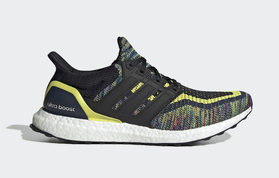 adidas Ultra Boost Multicolor Navy Negras Amarillas EG8106