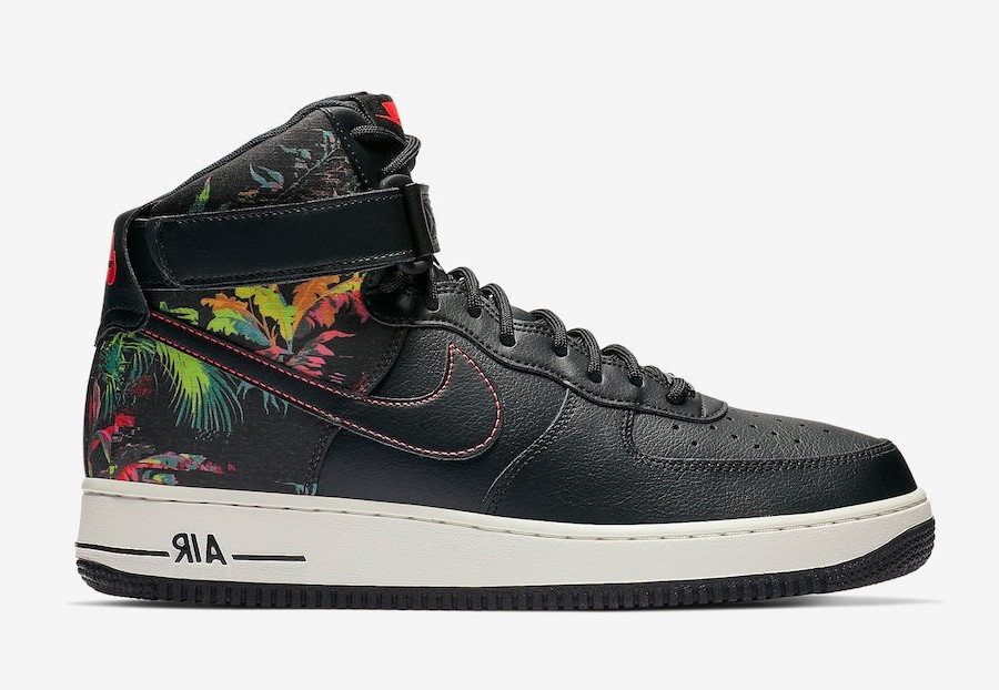 Nike Air Force 1 High Negras Floral CI2304-001