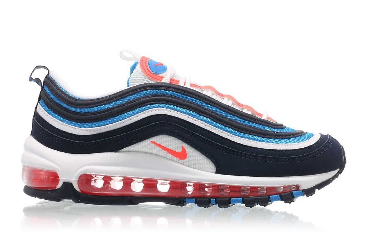 Nike Air Max 97 Bright Crimson Azules BQ7551-100