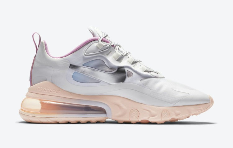 Nike Air Max 270 React Blancas/Rosas-Washed Coral CZ8131-100
