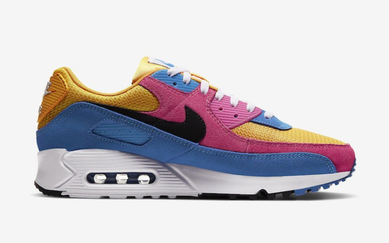 Nike Air Max 90 Recraft Amarillas Rosas Azules - CJ0612-700