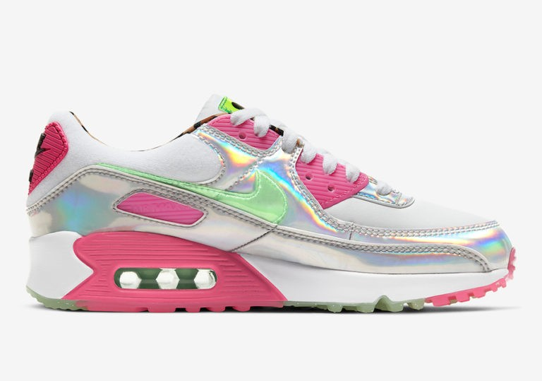 Nike Air Max 90 LX Daisy Leopard Iridescent Mujer - CQ2559-100