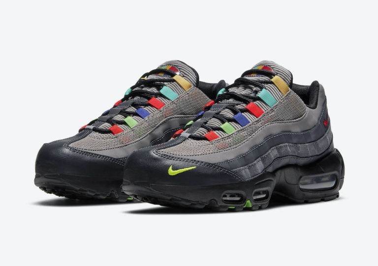 Nike Air Max 95 SE Light Charcoal/Rojas-Negras DD1502-001