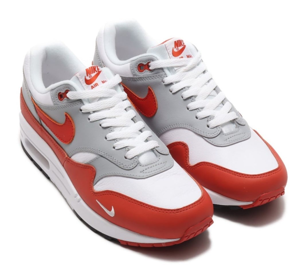"Nike Air Max 1 ""Martian Sunrise"" Blancas/Martian Sunrise-Grises-Negras DH4059-102"