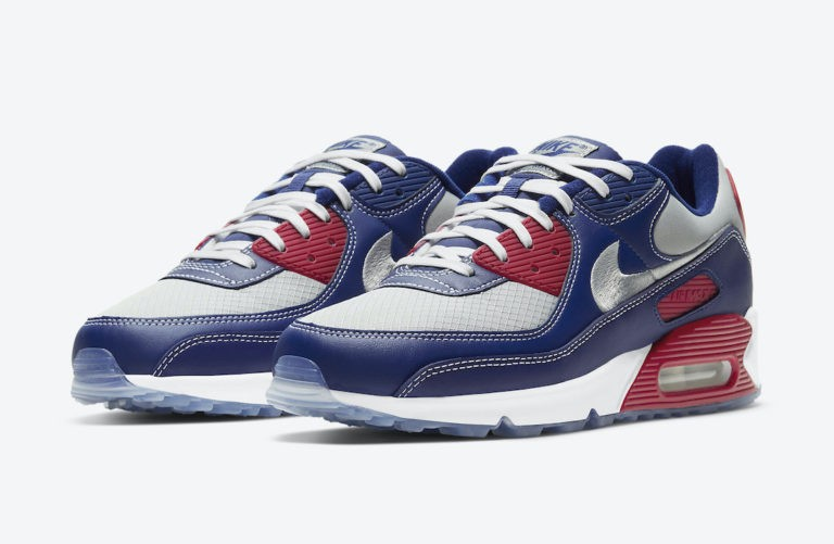 "Nike Air Max 90 ""Pirate Radio"" Navy/Plateadas/Rojas DD8457-400"