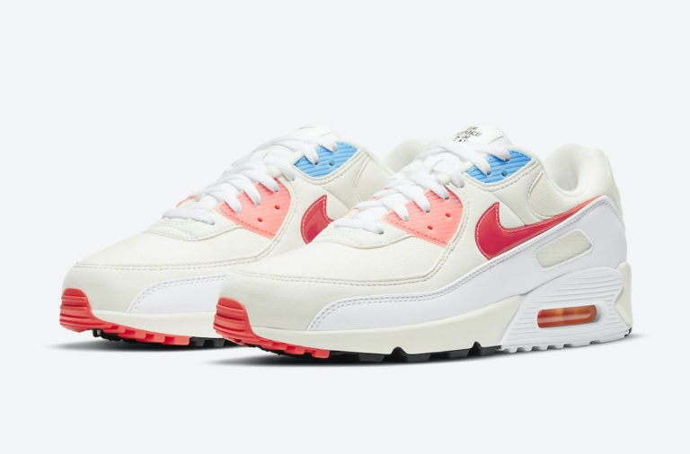 "Nike Air Max 90 ""The Future is in the Air"" Sail/Infrared-Blancas-Photon Dust DD8496-161"