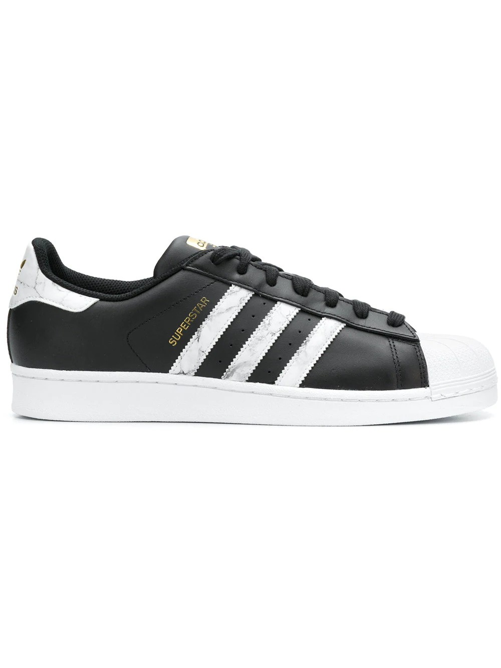 Adidas Originals Superstar Sneakers Hombre Negras Blancas D96800