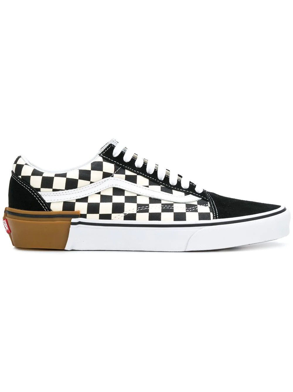 Vans Gum Block Old School Check Sneakers Negras VA38G1U58