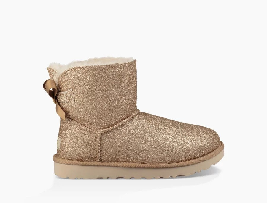 Mujer Mini Bailey Bow Sparkle Boot Doradas 1100053