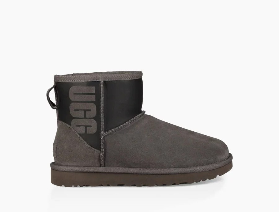 Mujer Classic Mini Rubber Boot Grises 1100210