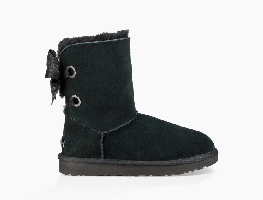 Mujer Customizable Bailey Bow Short Boot Negras 1098075
