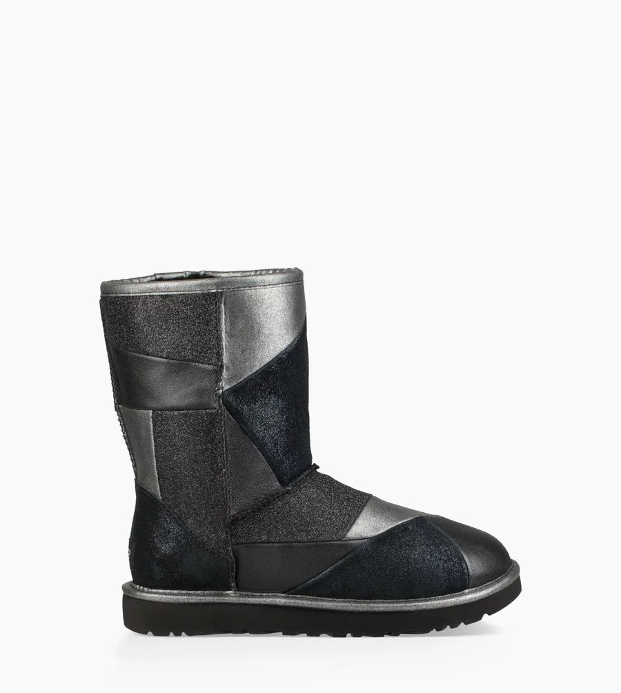 Mujer Classic Glitter Patchwork Boot Negras 1100054