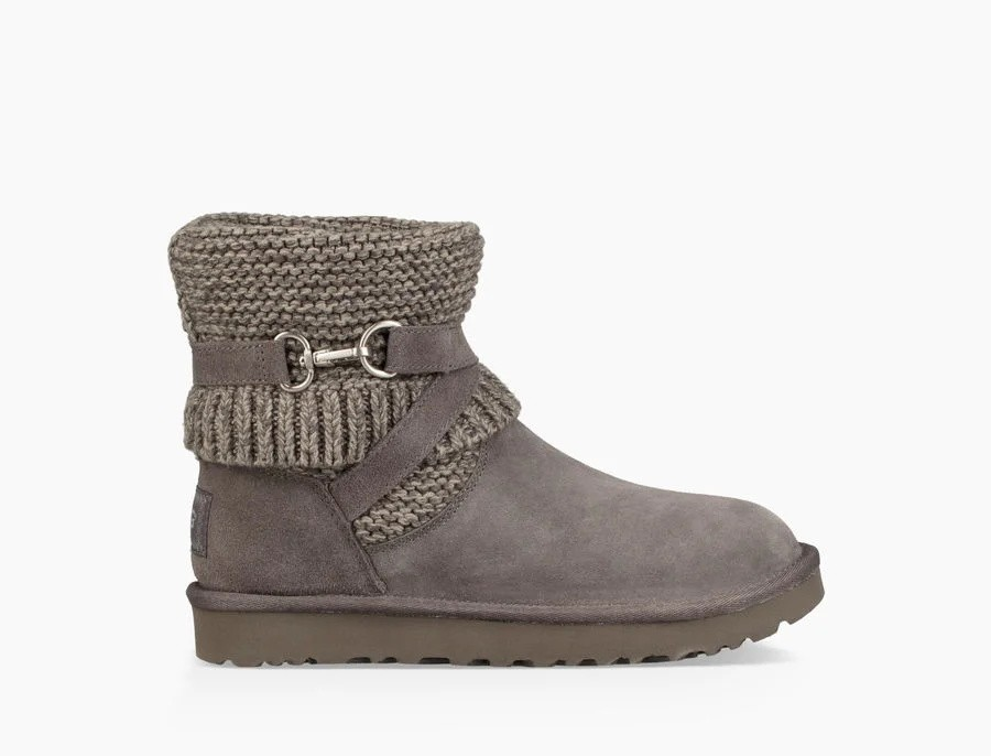 Mujer Purl Strap Boot Grises 1098080