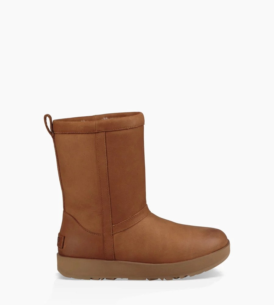 Mujer Classic Short Leather Waterproof Boot Marrónes 1017509