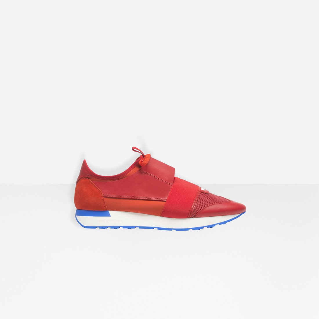Balenciaga Hombre Race Runners Multimaterial Contrasted Runners Rojas 506328W0YXS6501