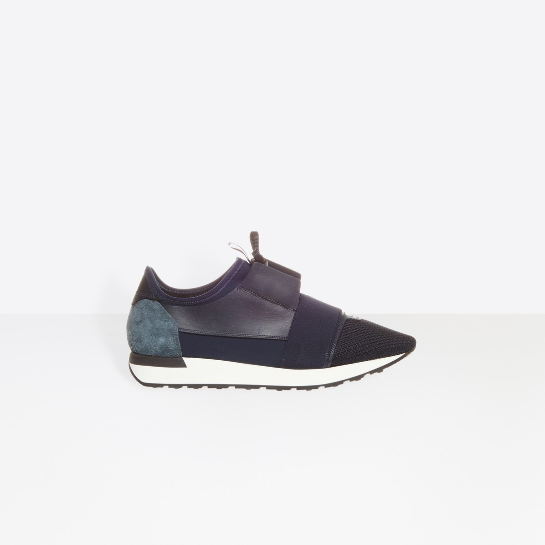 Balenciaga Hombre Race Runners Multimaterial Contrasted Runners Azules 483490W0YX64100