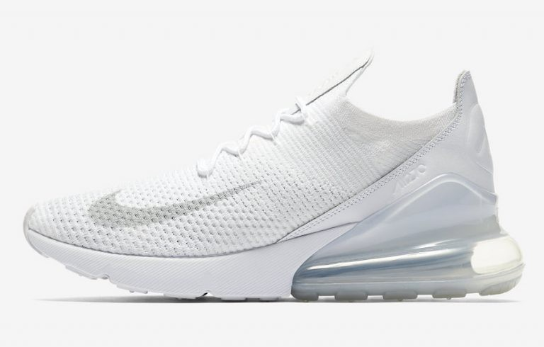 Nike Air Max 270 Flyknit Trainers Blancas AO1023-102