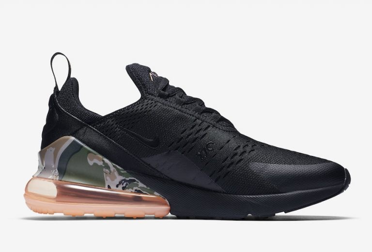 Nike Air Max 270 Camo Print Heel Bubble AQ6239-001