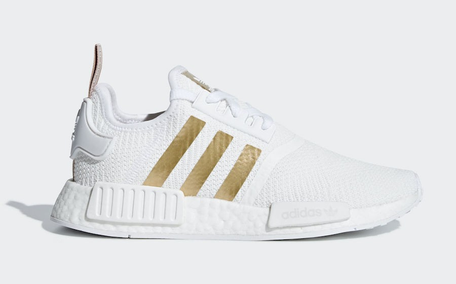 Adidas NMD R1 Blancas Copper Metálico Mujer - B37650