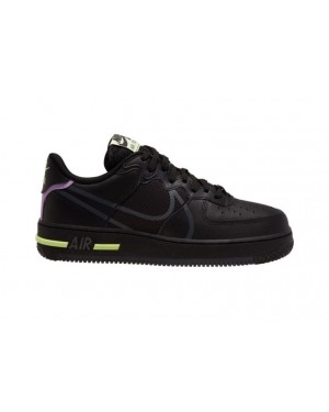 Nike Air Force 1 React Anthracite/Violet Star-Barely Volt CD4366-001