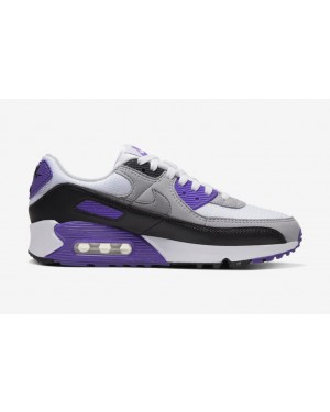 Nike Air Max 90 Blancas/Grises-Hyper Grape CD0490-103