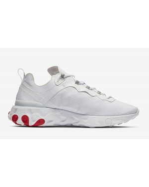 Nike React Element 55 Blancas Rojas BQ6167-102