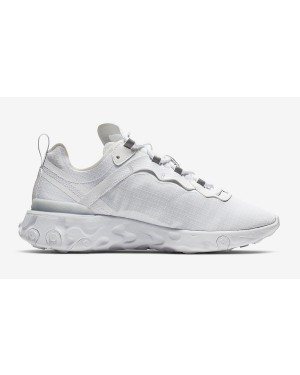 Nike React Element 55 Blancas Pure Platinum BQ6167-101