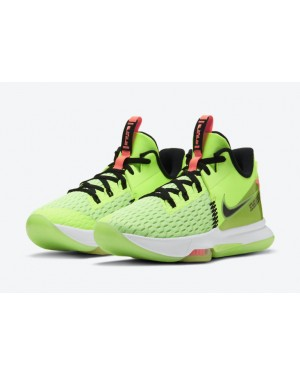 "Nike LeBron Witness 5 ""Grinch"" Hot Lime/Negras-Bright Mango-Blancas CQ9381-300"