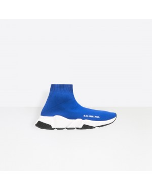 Balenciaga Mujer Speed Trainers with Blancas and Negras textured sole Azules 525712W05G04120