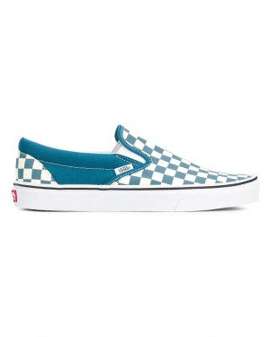"Vans - Mujer ""Checkerboard"" Slip-On Corsair Azules/Blancas VN0A38F7U78"