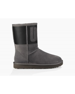 Mujer Classic Short Rubber Boot Grises 1096473