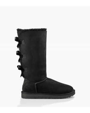 Mujer Bailey Bow Tall Ii Boot Negras 1016434