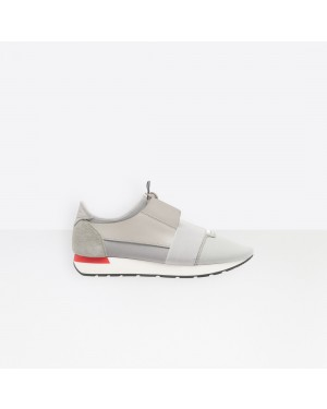 Balenciaga Hombre Race Runners Multimaterial Contrasted Runners Grises 490981W05G31214