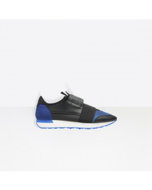 Balenciaga Hombre Race Runners Multimaterial Contrasted Runners Negras 506329W09C11007