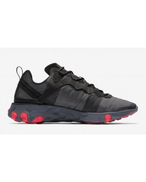 Nike React Element 55 Negras Rojas BQ6166-002
